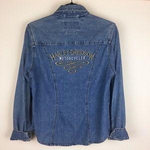Vintage Harley Davidson RARE Denim Jacket